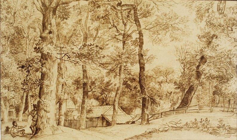 Ян Ливенс. Усадьба в лесу