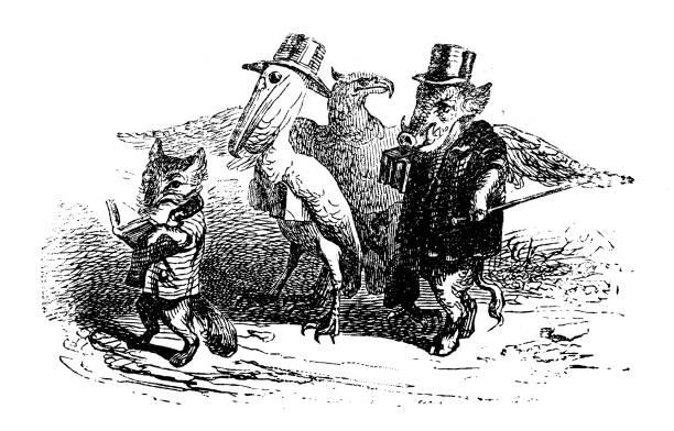 """Жан Иньяс Изидор (Жерар) Гранвиль. Лис-распорядитель. """"Сцены общественной и частной жизни животных"""""""