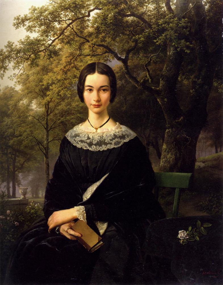 Barend Cornelis Kukkuk. The lady in black