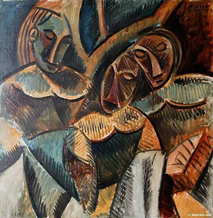 Пабло Пикассо. Три фигуры под деревом