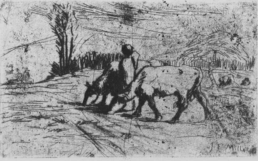 Жан-Франсуа Милле. Две коровы