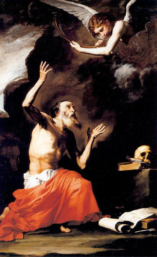Jose de Ribera. SV. Jerome and the Archangel Michael