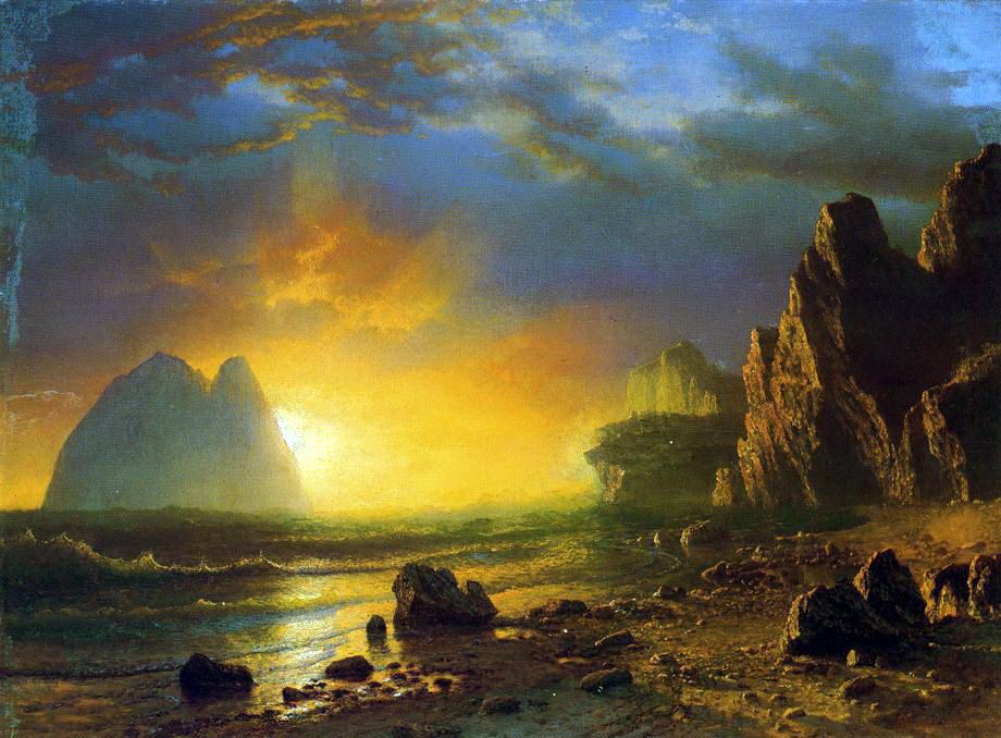 Альберт Бирштадт. Закат на побережье