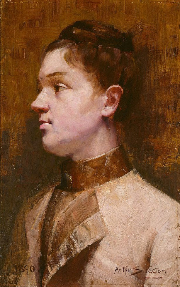 Arthur Ernest Streaton. Young woman portrait. Mrs. W.G. Reed