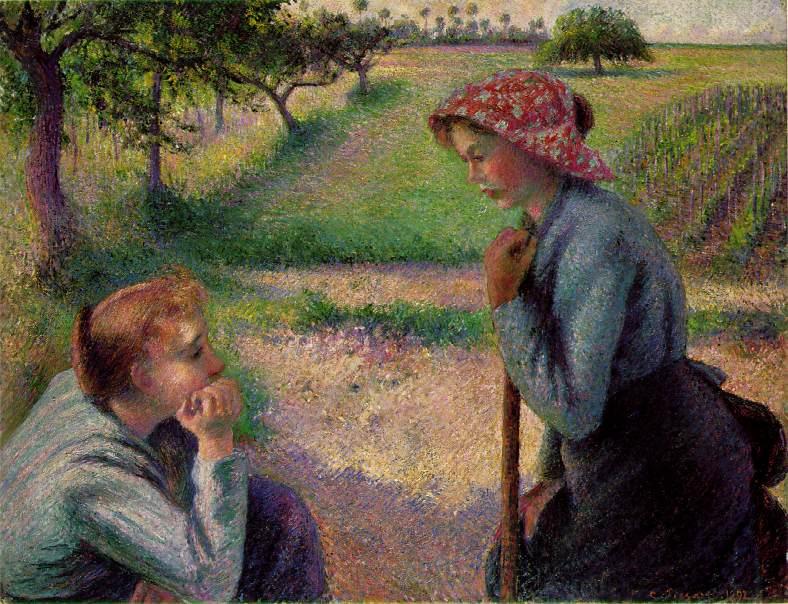 Камиль Писсарро. Две молодые крестьянки