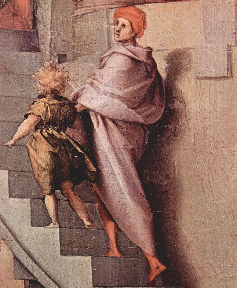 Якопо Понтормо. Иосиф в Египте. Картина для свадебной комнаты Пьера Франческо Борджерини во флоренийском фамильном дворце, фрагмент
