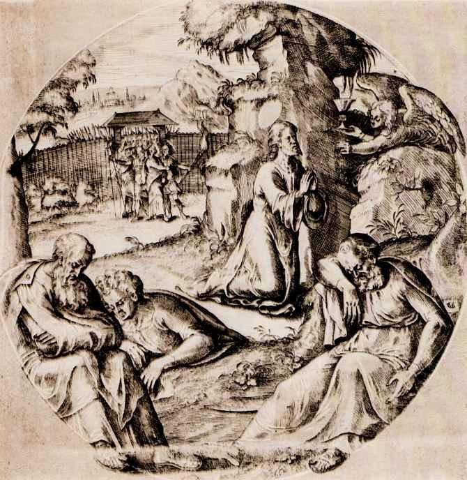 Ван Брук. Христос на горе Елеонской