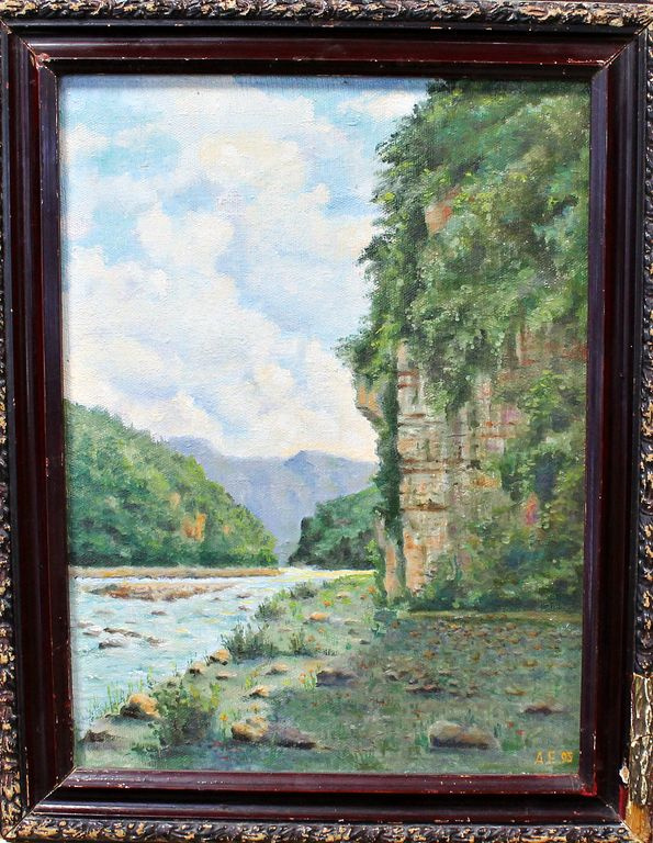 Anatoly Alexandrovich Elansky. In the valley of the Mzymta river