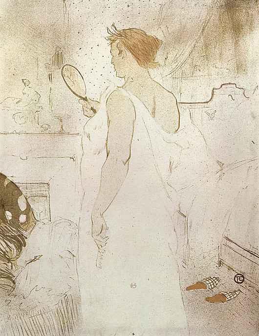 Анри де Тулуз-Лотрек. Женщина с зеркалом в руке