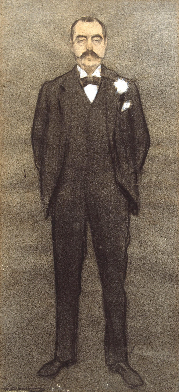 Ramon Casas i Carbó. Portrait of Albert Bernis