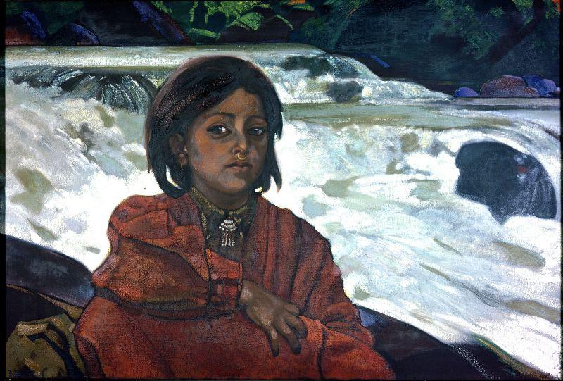 Svyatoslav Nikolaevich Roerich. The girl at the waterfall (Rabti from Kullu)