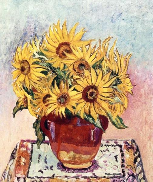 Henri Manguin. Sunflowers