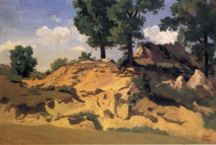 Камиль Коро. Деревья и камни