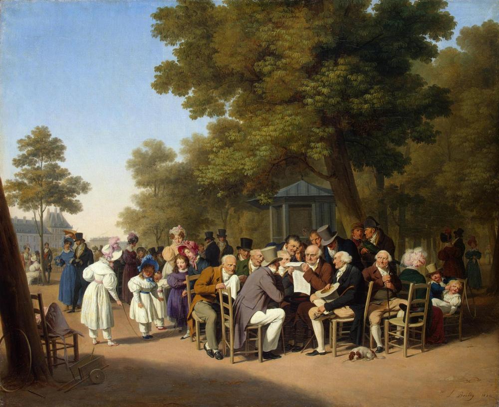 Луи-Леопольд Бойи. Политиканы в Тюильрийском саду