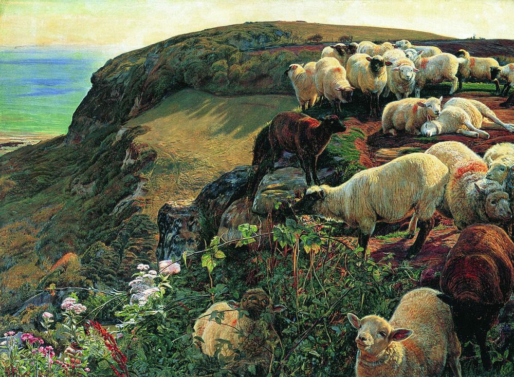 Уильям Холман Хант. Стадо овец на английском побережье