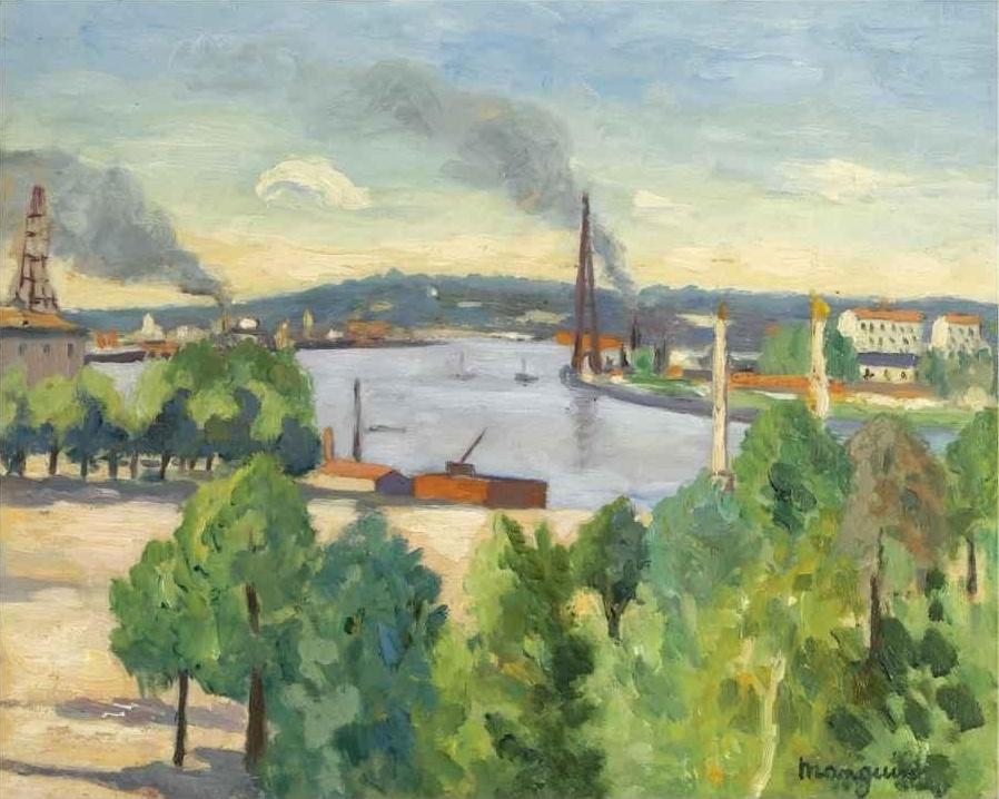Анри Шарль Манген. Вид на реку, Бордо