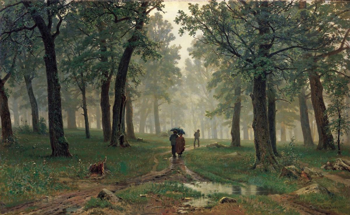 Иван Иванович Шишкин. Дождь в дубовом лесу