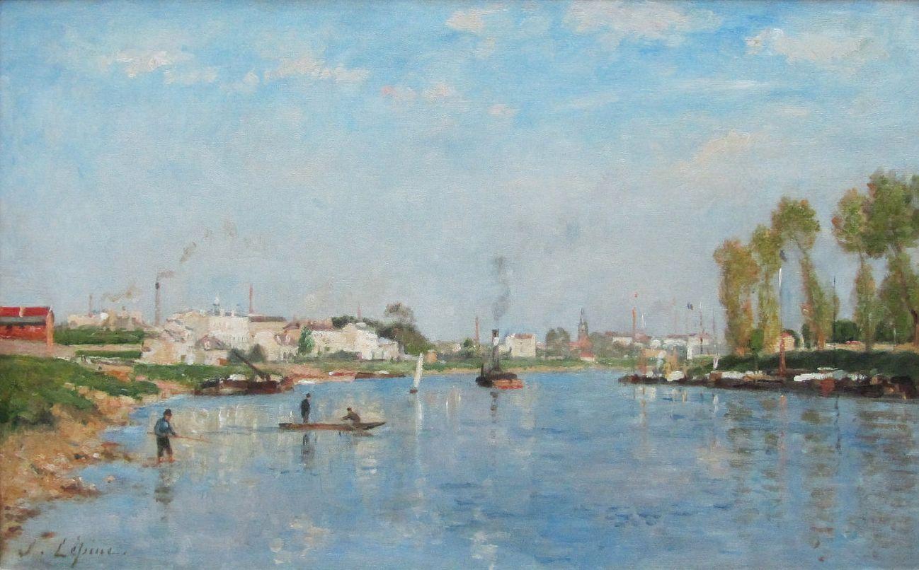 Станислас Лепин. Канал Сен-Дени близ Парижа