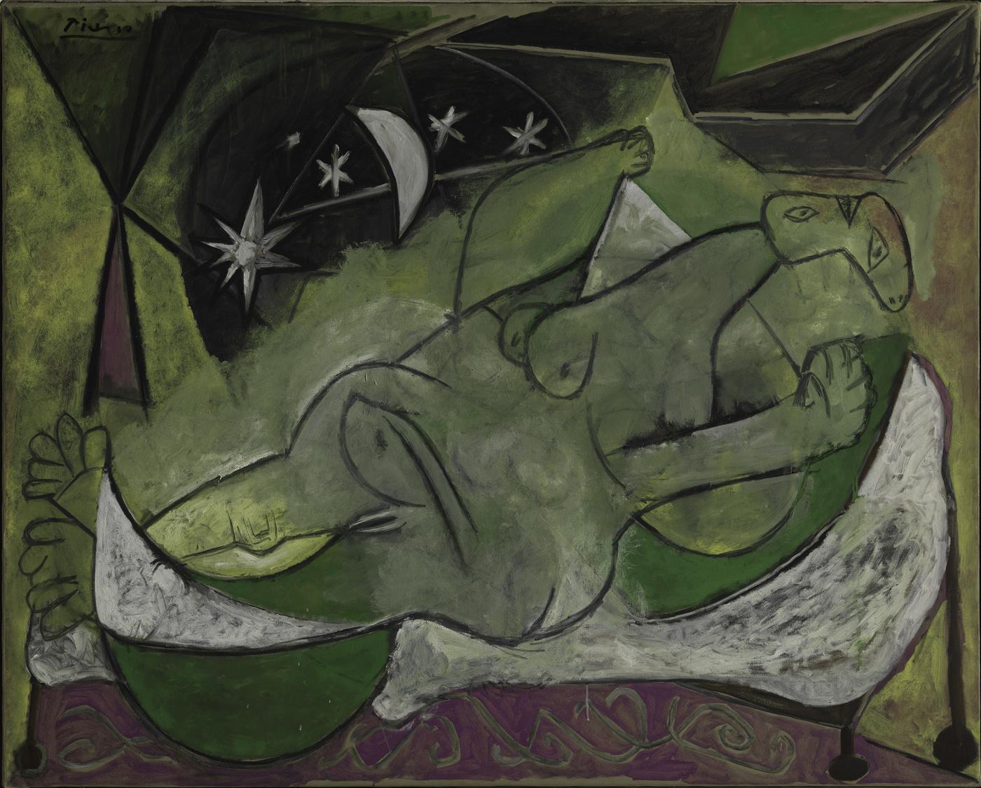 Лежащая обнаженная под звездным небом (1936)
