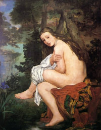 The frightened nymph