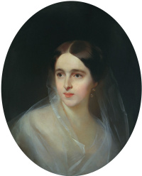 Portrait of Natalia Pushkina-Lanskoy. 1849