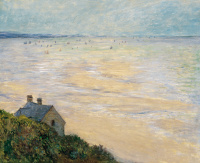 The hut in Trouville, low tide