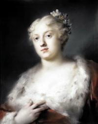 Портрет молодой дамы в платье