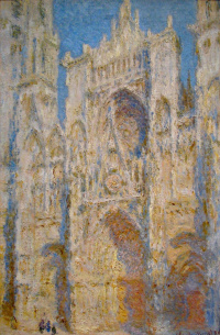 Rouen Cathedral, West facade, sunlight