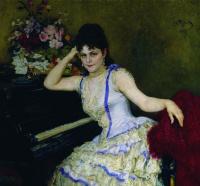 Portrait of the pianist S. I. Menter