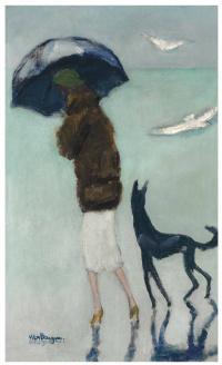 Cannes, la femme au chien