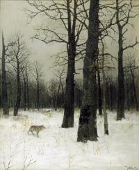 Исаак Ильич Левитан. Зимой в лесу