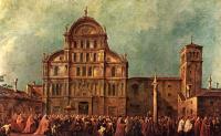 """Цикл картин """"Празднества дожей"""". Пасхальное шествие дожа через площадь перед Сан Дзаккария в Венеции"""
