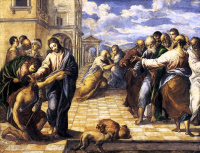 Эль Греко (Доменико Теотокопули). Христос исцеляет слепого