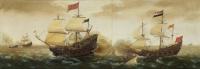 Корнелис Вербеек. Морской бой между голландскими и испанскими военными кораблями