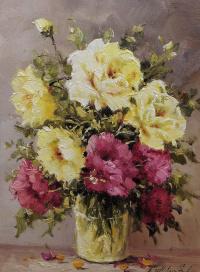 Bouquet of garden roses