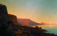 Evening in the Crimea. Yalta