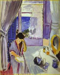 Анри Матисс. Женщина читает у туалетного столика