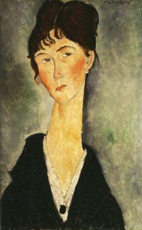 Портрет женщины с кулоном