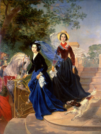 Portrait of the sisters A. A. and O. A. Shishmarev