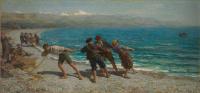 Fishermen in Menton (Fishermen of the Mediterranean).