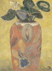 Green plant in vase