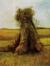 Винсент Ван Гог. Снопы пшеницы в поле