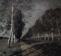 Исаак Ильич Левитан. Лунная ночь. Большая дорога