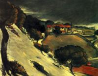Поль Сезанн. Тающий снег в Эстаке