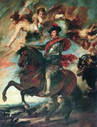 Allegorical equestrian portrait of Philip IV