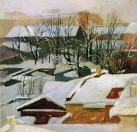 Ivan Ivanovich Shishkin. City rooftops in winter