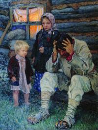 Николай Петрович Богданов-Бельский. Горе