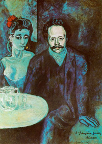 A portrait of Sebastian Vidal with a woman