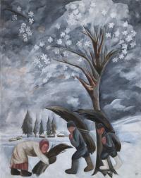 Зима. Сбор хвороста