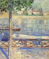 Вид с лодкой в Сен-Клу